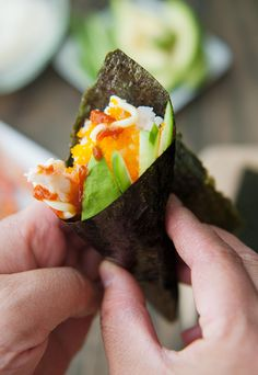 california hand roll (temaki) recipe | use real butter