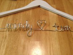 DIY Personalized Wedding Gown Hanger {Budget Fairy Tale}