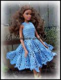 morning glory fashion doll dress free crochet pattern - also a couple of other Barbie crochet outfits as well.