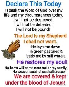 Prayer Scriptures, Bible Prayers, Faith Prayer, God Prayer, Power Of Prayer, Prayer Quotes, Bible Verses, Faith Quotes, Answered Prayers