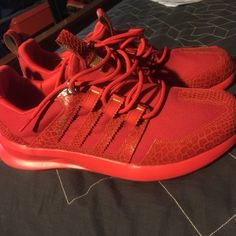 c0bb975ba8638 Red Adidas SL Loop Worn once
