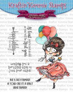 Birthday Bianca - Preview Day 2 Kraftin Kimmie Stamps - Mindy Eggen Design