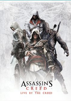 Assassin's Creed Poster with Altair, Ezio, Edward and Connor on Etsy, $30.00 AUD