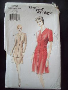 RARE 1970/'s Vogue Sewing Pattern 9252 Misses Short or Long Loose Dress with Shawl Size 14 Uncut 70/'s Vogue dress with  scarf