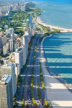 Lake Shore Drive, Chicago - The mile long drive was completed in 1937 & inaugurated in Chicago Travel, Chicago City, Chicago Illinois, Travel Usa, Chicago Lake, Chicago Chicago, Chicago Skyline, Milwaukee City, Baby Travel