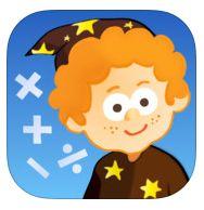 Deze reken-app bevat spellen met: optellen, aftrekken, vermenigvuldigen en delen. Te spelen op vijf niveaus.  Geschikt voor iPad - € 1,79
