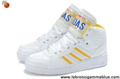 Wholesale Cheap Adidas X Jeremy Scott License Plate Shoes White Yellow Fashion Shoes Store