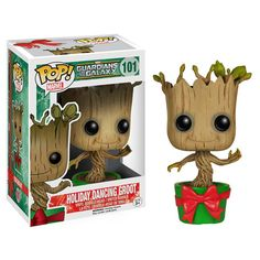 The holidays are fast approaching….it's only 3 months away! Whoa, time flies. To help you celebrate this year, we've found the Guardians of the Galaxy Holiday Dancing Groot Pop Vinyl, and it is adorable. This Groot comes in a festive green flower pot, with a large red bow. He features the classic bobble head action, …