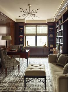 Cozy Transitional Home Office by Gideon Mendelson on HomePortfolio