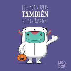 Feliz noche de halloween para todos de parte de #opi y @mostropi #halloween #monster #illustration #dibujo   by OSCAR OSPINA STUDIO