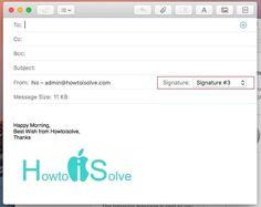 How to Add Email Signature with image in macOS Sierra Mail App