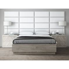 Cheap VANT Upholstered Headboards – Accent Wall Panels – Packs Of 4 – Vintage Leather White Dove – Wide x Height – Easy To Install – Queen – Full Size Headboard Wall Mounted Headboards, Upholstered Wall Panels, Panel Headboard, Upholstered Headboards, Full Size Headboard, Queen Headboard, Accent Wall Panels, Floating Headboard, Headboard Designs