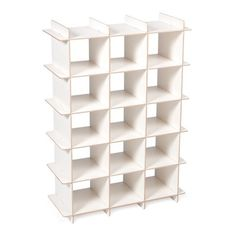 This simple and elegant Modern Wood Shoe Storage Cubby has an impressive shoe storage capacity, and is useful for storing more than just shoes. Wood Shoe Storage, Wood Shoe Rack, Shoe Cubby, Cubby Storage, Bench With Shoe Storage, Shoe Racks, Storage Ideas, White Shoe Rack, Modern Shoe Rack