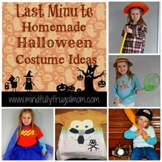 Last Minute DIY Halloween costume ideas - all homemade from items you probably already have on hand! Halloween Costumes You Can Make, Cute Costumes, Halloween Boo, Halloween Crafts, Halloween Ideas, Costume Ideas, Halloween Decorations, Kids Fun, Cool Kids