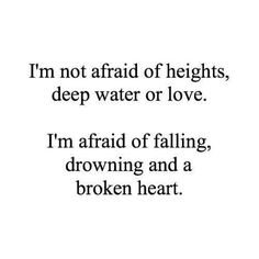 I'm not scared...