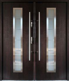 Wood Entry Doors, Door Entryway, Teak Wood, Double Doors, Locker Storage, Door Handles, Antiques, Interior, Modern