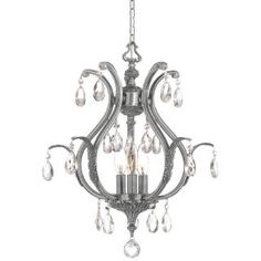 Check out the Crystorama 5560-PW Dawson 3 Light Mini Chandelier in Pewter$658.00 at Homeclick.com.