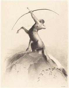 Odilon Redon (French, 1840-1916)  Centaure Visant les Nues, 1895