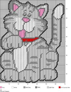 CAT by GrannyS Designs -- WALL HANGING