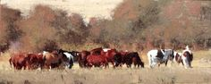 Autumn Horses by Michael Workman - one of our absolute favorites.  #michaelworkman #brownstoneart #workmanprints #art #interiordesign