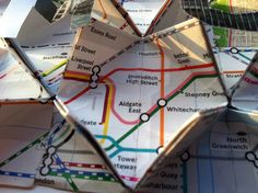 Tessellated origami map of London
