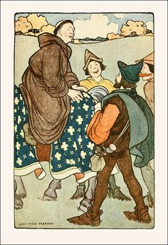 """""""Robin Hood: his deeds and adventures as recounted in the old English ballads."""" illustrated by Lucy Fitch Perkins. Published 1923 by Houghton Mifflin Co., Boston."""