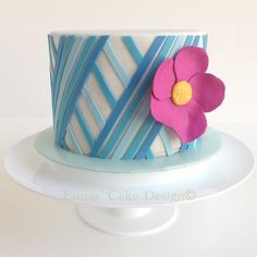 Blue Lines woman cake