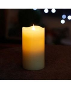"""Set of 10 SIMPLUX 3""""Dx5.25""""H True Flame LED Candles"""