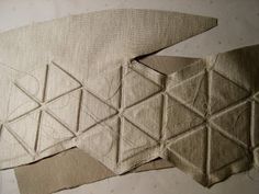 RACHEL POULTER: Stitching the triangles