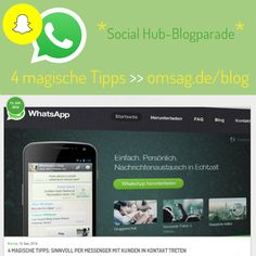 """Sinn oder Unsinn? Wer als Unternehmen auf Messenger wie Snapchat setzt, sollte sich >vorher< einige wichtige Fragen beantworten. Sonst wird aus """"Echtzeit"""" schnell """"echt Stress""""! ;) Wie ihr daraus ein Erfolgsprojekt macht, zeigen euch Blankas 4 Tipps. Unser Beitrag zur SocialHub-#SoMeParade: http://www.omsag.de/blog/social-media/vier-magische-tipps-fuer-sinnvolle-messenger-kommunikation?utm_source=pinterest&utm_medium=beitrag&utm_campaign=allgemein (aw) #messenger #snapchat #socialmedia"""