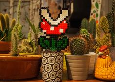 Handemadekultur feat Bügelperlen feat Super Mario feat Pirates and Mermaids, nie mehr gießen Super Mario, Mermaids, Pirates, Christmas Ornaments, Holiday Decor, Handmade, Home Decor, Pot Plants, Culture