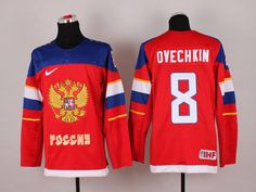 Russia Red 8 Blank 2014 Winter Olympics