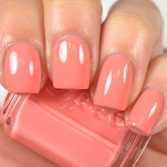 """@essiepolish """"Peach Side Babe"""" from the Summer 2015 collection. The collection is available now at @live.love.polish. I have swatches of this and the rest of the collection on my YouTube channel right now! #notd #nails #nailpolish #nailsofinstagram #indiepolish #indieswatch #indienailpolish"""
