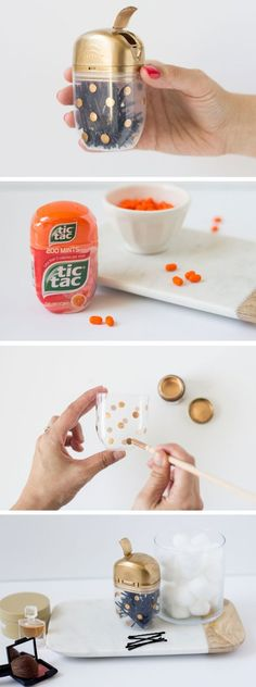 diy tic tac bobby pin holder