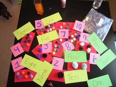 My Mathematics Matching, 1-10 in 3 forms. Numbers, words, and objects