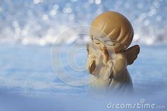 Beautiful guardian angel - wooden angel on a blue background Wooden Angel, Blue Backgrounds, Celestial, Outdoor, Beautiful, Outdoors, Outdoor Games, The Great Outdoors