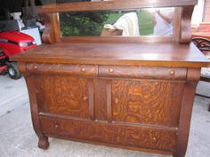 Empire Style Oak Sideboard/Buffet by FashionEmergency on Etsy, $749.00 Rustic Furniture, Antique Furniture, Empire Furniture, Sideboard Buffet, Empire Style, Antiquities, Cottage Style, 1920s, Old Things