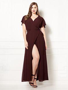 73bb0479c82 Eva Mendes Collection - Allison Wrap Dress - Plus… Eva Mendes Collection