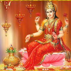 Cleanliness and clarity are signs of the presence of Goddess Mahalakshmi. She brings prosperity, love, joy and wealth in many forms to our homes. Ganesh Lord, Lord Shiva, Ganesha, Lord Vishnu, Shiva Shankar, Lakshmi Images, Goddess Lakshmi, Divine Goddess, Hindu Deities