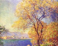 Antibes seen from the Salis Gardens, Claude Monet 1888