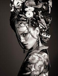 La Boheme: Kasia Struss by Greg Kadel for Numero 142 April 2013 Greg Kadel, Trendy Fashion Jewelry, Fashion Jewelry Necklaces, Jewellery, Fashion Moda, Look Fashion, White Fashion, Metallic Fashion, Gypsy Fashion