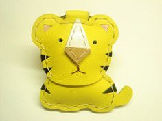 KC the tiger cub leather keychain (leatherprince) Tags: handmade products leatherprince
