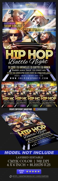 FLYER SOCCER CUP MATCH OF THE DAY IN BRAZIL BAR    www - hip hop flyer template