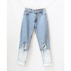 Ready to Ship Levi High Waisted Distressed Boyfriend Jeans Destroyed... ($20) ❤ liked on Polyvore featuring jeans, pants, silver, women's clothing, blue jeans, high-waisted jeans, high waisted ripped jeans, ripped boyfriend jeans and light wash boyfriend jeans