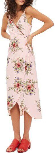 Women's Topshop Floral Wrap Slipdress