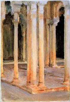 John Singer Sargent - Court of the Lions