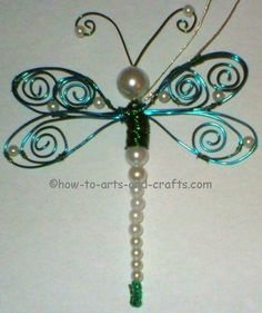 Dragonfly Drawings | Dragonfly Crafts: Make Stunning Pearl and Bead Dragonfly Art and Craft ...
