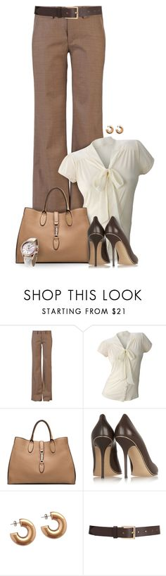 """""""Chocolate"""" by mwaldhaus ❤ liked on Polyvore featuring CURVE, Matiere, Gucci, Casadei, CFconcept and Barneys New York"""