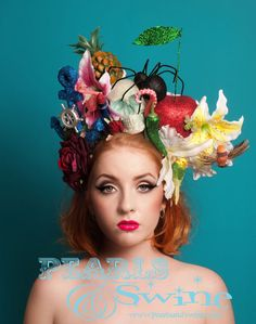 Pop Surreal Millinery: I Taught Myself How To Make Unique Hats Tiki Wedding, Flower Headdress, Crazy Hats, Kentucky Derby Hats, British Flowers, Girl With Hat, Along The Way, Ladies Day, Pretty Little