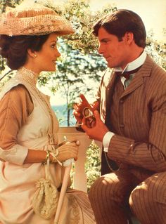 """Elise McKenna and Richard Collier in """"Somewhere in Time"""""""